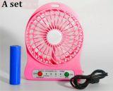 Mini ventilateur chaud USB de 3 vitesses avec le ventilateur actionné par USB de batterie rechargeable