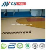 Schlag-Verkleinerungs-Silikon PU-Basketballplatz der hölzernen Beschaffenheits-Art