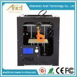 Anet a assemblé l'imprimante de bureau en métal de Fdm 3D avec l'affichage à cristaux liquides