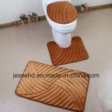 Wasserdichtes und Gleitschutzbadezimmer-Wolldecke-Set der bad-Matten-3PCS