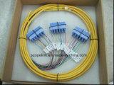 Pigtail do pacote dos cabos de correção de programa da fibra óptica