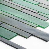 Nueva azulejos de mármol verdes cortados del vidrio de la turquesa del diseño mano