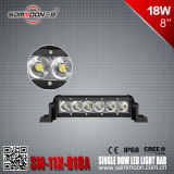 8 Vehicles Track Public Buildings (SM-11X-018A)를 위한 인치 18W (6PCS*3W) Single Row 크리 말 LED Light Bar