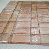Rosafarbene Marmorglasmosaik-Fliese