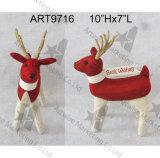 """Decoración hecha punto la Navidad del hogar del reno y sus """"recuerdos"""" en cuello"""