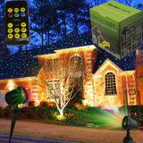 Напольный красный цвет света рождества &Green лазерный луч статического типа водоустойчивый