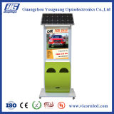 Pole type Green trash Énergie solaire LED Light Box-SOLTP
