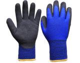 Gants fonctionnants de l'hiver avec 3/4 enduit des nitriles noirs de Sandy sur la paume (N1612)
