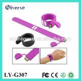최신 판매 선전용 선물 팔찌 작풍 실리콘 주식 USB 지팡이