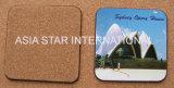Coaster quadrado da cortiça da cor cheia da paisagem