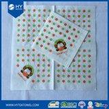 Serviettes de papier faites sur commande d'essuie-main de papier de cocktail d'impression