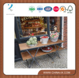 2 Retail a file Display Table con Wooden Table Top