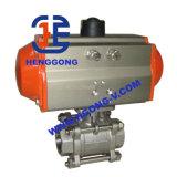 DIN/API Kogelklep 304 Met drie richtingen van de Flens van het roestvrij staal