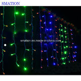 Indicatore luminoso di natale variopinto esterno di natale LED della stringa di RGB della tenda decorativa