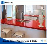 Bancada artificial de quartzo para a superfície contínua da decoração Home com alta qualidade (únicas cores)