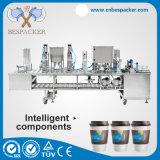 米国の自動包装機械コップのヨーグルトのミルクのコップのシーリング機械コーヒー包装機械