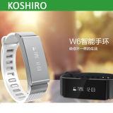 Pedometro astuto di caloria dei braccialetti di Ks-W6 Bluetooth