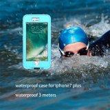 Cas imperméable à l'eau antichoc plongeant de couverture d'armure du PC TPU de caisses sous-marines de téléphone avec le sac de couverture d'empreinte digitale pour l'iPhone 7 7 positifs