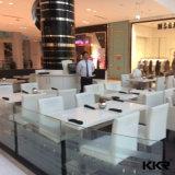 Tabella pranzante lunga del ristorante di pietra artificiale