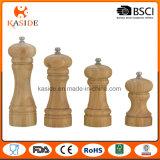 Dado funcionar la base de cerámica el molino de pimienta de bambú de la sal