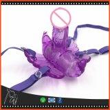 Cinghia di vibrazione a distanza senza fili di stile della farfalla sui giocattoli del sesso delle mutandine per le donne