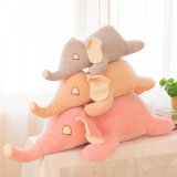 Almohadilla de abrazo animal del elefante suave estupendo de la felpa