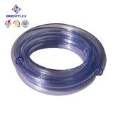 Boyau tressé de fibre claire transparente de PVC