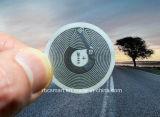 13.56MHz bon marché Ntag213 imperméabilisent les étiquettes passives réinscriptibles de carte d'identification de collants de l'antenne RFID/NFC