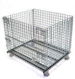 Pieghevole in acciaio rete metallica Pallet Container per magazzino di stoccaggio