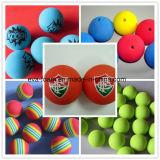 De kleurrijke Ballen van de Regenboog van het Schuim van de Spons van de Praktijk van de Hulp van de Opleiding van de Schommeling van het Golf van de Bal van de Bal van het Schuim van EVA Lucht Binnen
