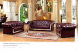 Классическое Sofa Chesterfield Leather Sofa для Home Furniture
