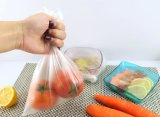 Sachets en plastique plats transparents sur le roulis pour le supermarché