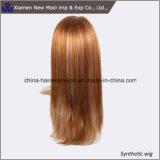 Peruca sintética popular do cabelo com cor clara