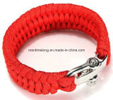 Paracord Rope Outdoor Survival Bracelet per Camping