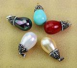Joyería redonda multicolora del colgante de la perla natural