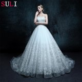 Appliques Sleeveless Strapless Wedding Dress (ZXB-11)
