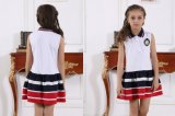 Muchacho de escuela primaria con estilo modificado para requisitos particulares de la manera y uniforme S53105 de la muchacha