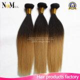Ombreのインドのバージンの毛まっすぐで自然なカラー自然な人間の毛髪