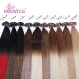 Extension indienne de cheveux humains de cheveux de Remy de premiers de la catégorie U de perruques de K.S d'extrémité d'ongle de cheveux cheveux de kératine