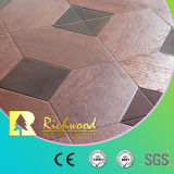 O vinil do Woodgrain de HDF V-Grooved laminou o revestimento de madeira estratificado da madeira