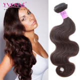 カラー2#ボディ波のPeruvain Remyの人間の毛髪