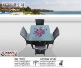 樹脂の柳細工の屋外の椅子の藤のテラスの庭の家具のソファー