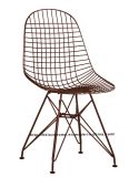Moderno, Metal restaurante Knock Down Wire Chair Eames Side