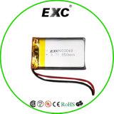 Batteria ricaricabile della batteria di litio di eccetto 603048 3.7V 850mAh