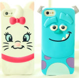 iPhone6/6plusのための3D Cute Animal Silicone Cell Phone Case