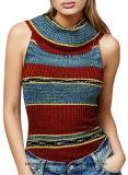 Женщины классицистические и основная тельняшка жилетки свитера (W17-724)