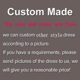Vestido de novia Champagne escarpada del cordón de manga larga vestido de novia H201725