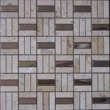 금속 혼합 자연적인 돌 도와 대리석 모자이크 바닥 도와 (FYSM012)