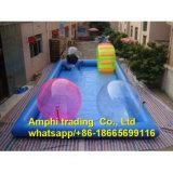 Le type piscine de tente gonflable joue le syndicat de prix ferme gonflable