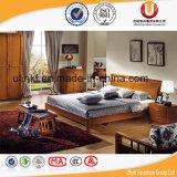 Preiswerte chinesische hölzerne doppeltes Bett-Entwurfs-Schlafzimmer-Großhandelsmöbel stellten ein (UL-602)